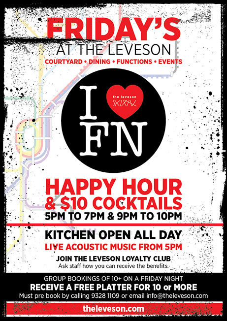 Upcoming Events - image fridays-at-the-leveson on https://theleveson.melbourne