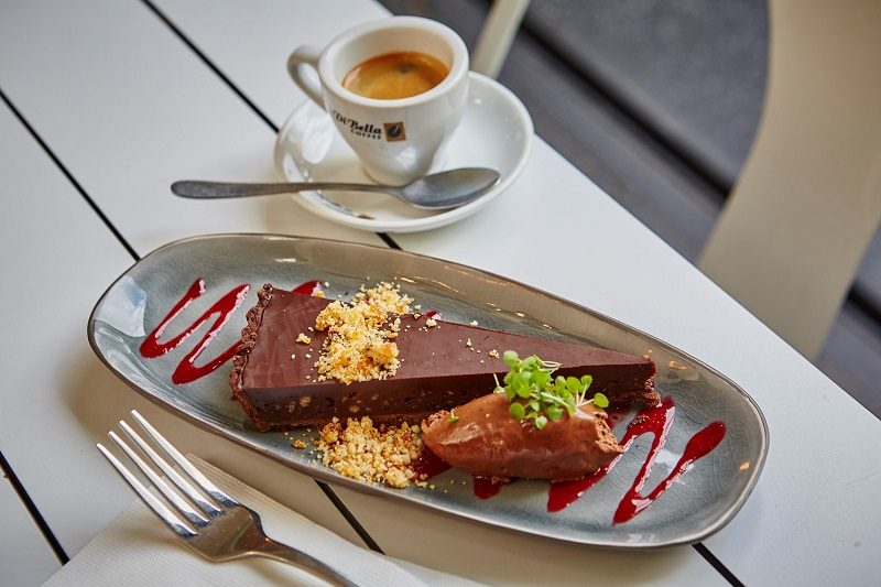 mouthwatering chocolate dessert