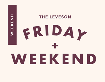 The Leveson Restaurant bar friday weekend logo