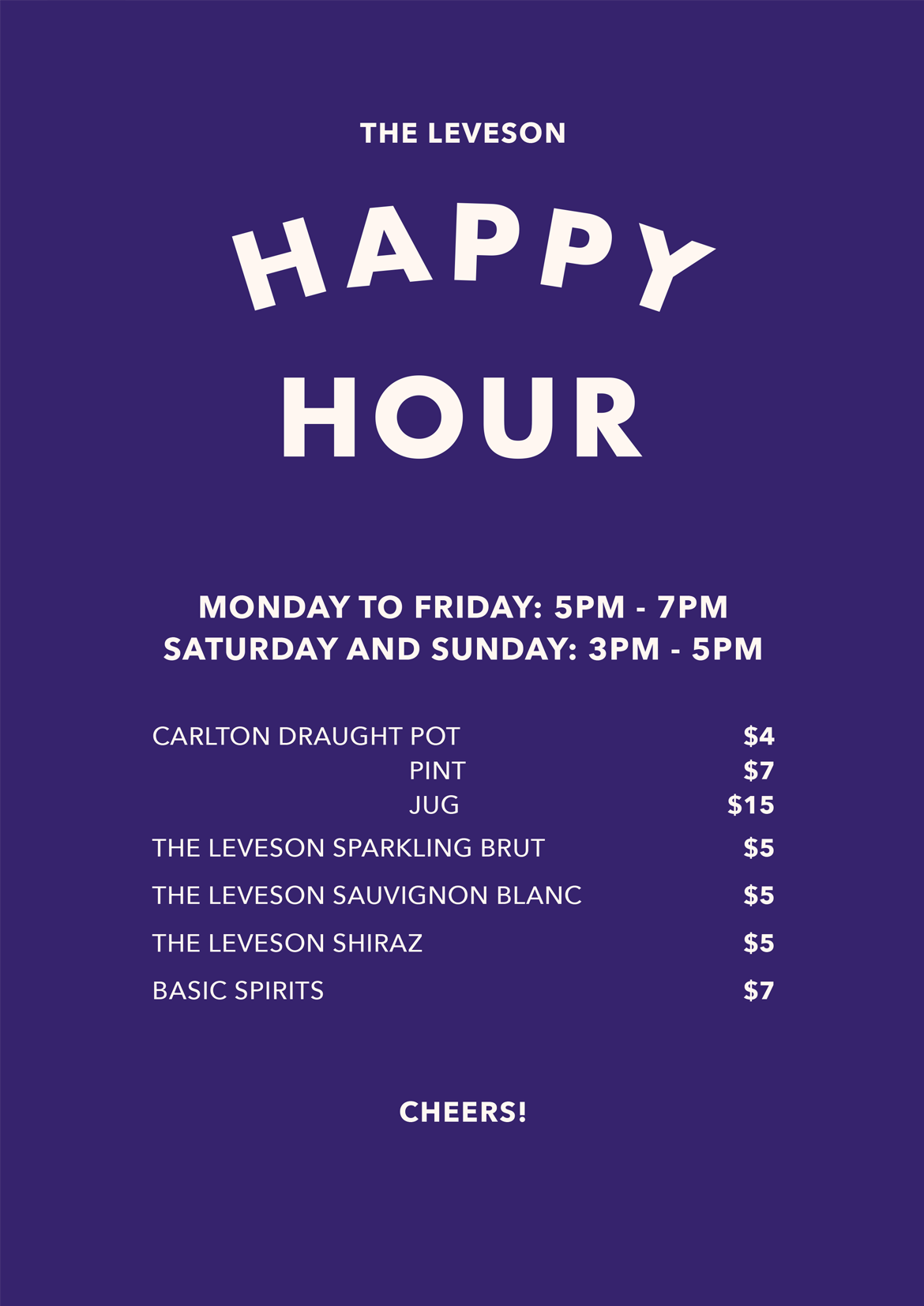 Happy Hour - image happy-hour on https://theleveson.melbourne