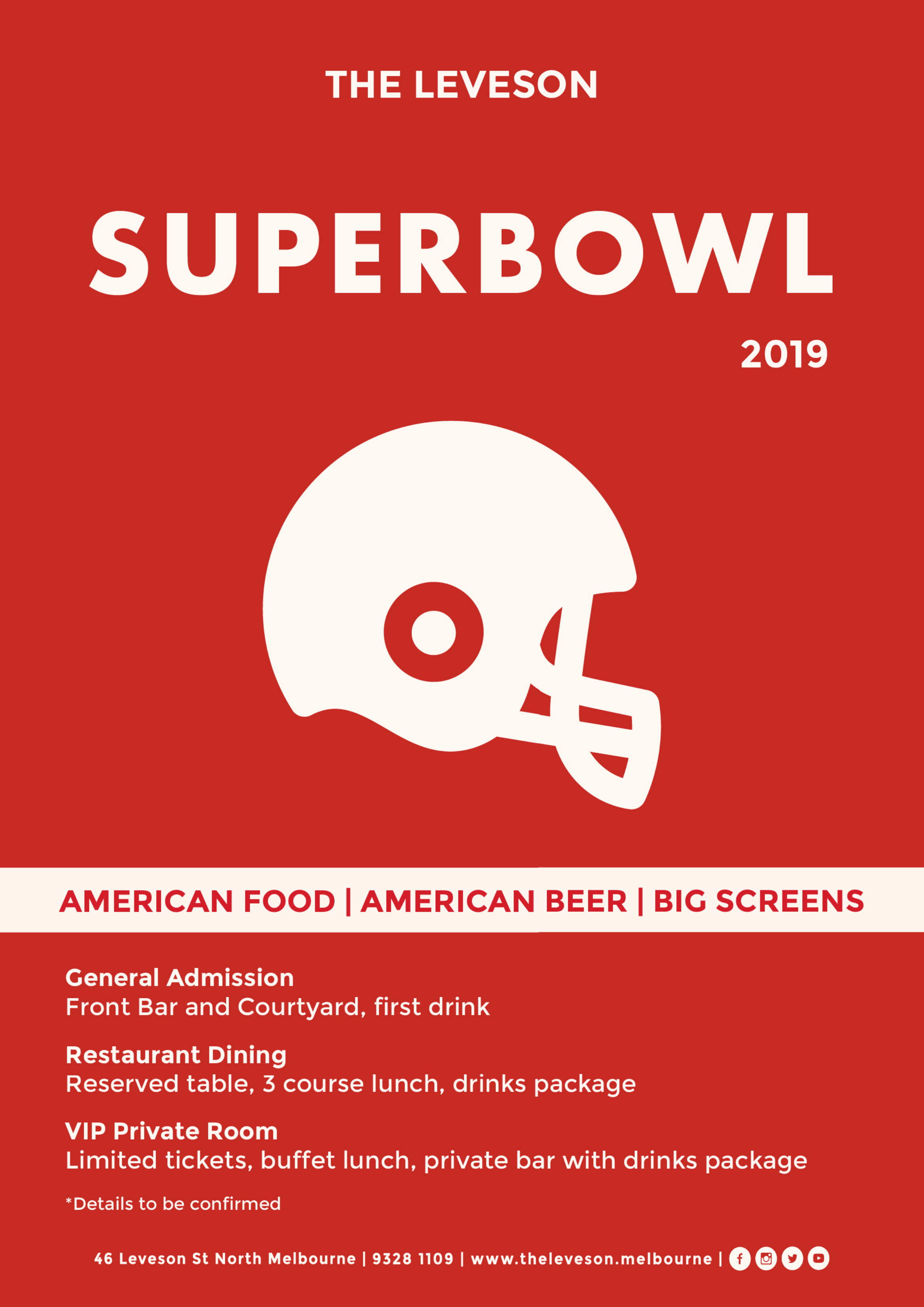 Superbowl Party - image Leveson_Superbowl19_A3-1 on https://theleveson.melbourne